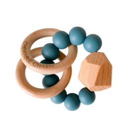 Hayes Silicone + Wood Teether - Gypsy Teal