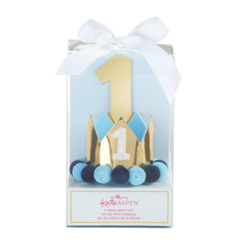 1st Birthday Decor Kit - Blue & Gold