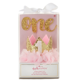 1st Birthday Decor Kit - Gold Glitter
