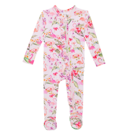 Leilani Footie Ruffled Zippered One Piece