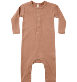 Ribbed Baby Jumpsuit - Terracotta