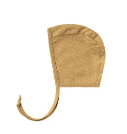 Pointelle Baby Bonnet - Gold