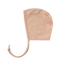 Pointelle Baby Bonnet - Petal