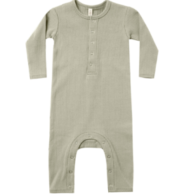 Ribbed Baby Jumpsuit - Sage