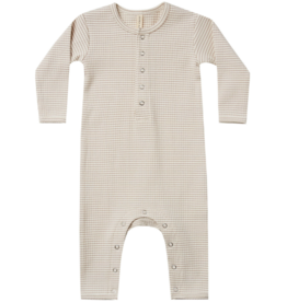 Ribbed Baby Jumpsuit - Ash-Stripe