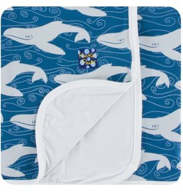 Print Toddler Blanket in Twilight Whale