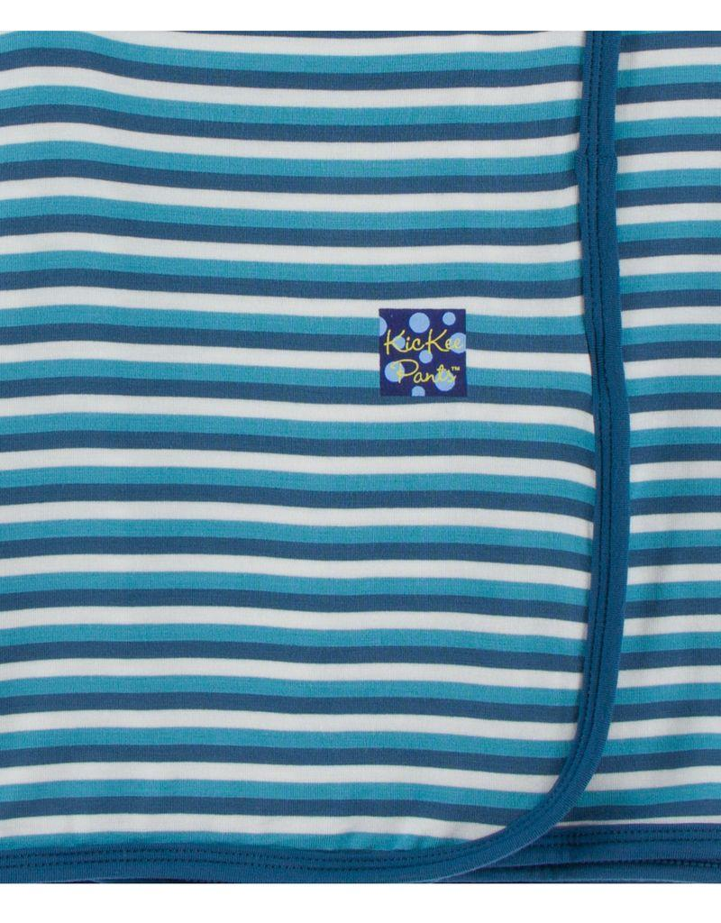 Print Swaddling Blanket in Confetti Anniversary Stripe