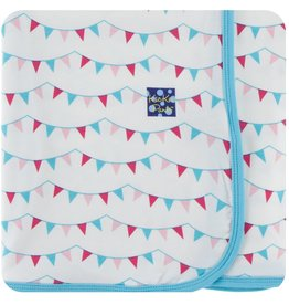 Print Swaddling Blanket in Flamingo Party Flags