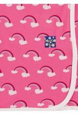Print Swaddling Blanket in Flamingo Rainbow