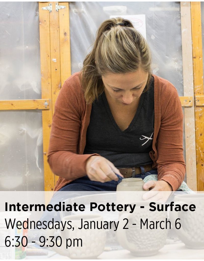 NCC Intermediate Pottery - Focus on Surface & Attachments