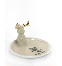 Tricia Schmidt Jackelope Ring Dish