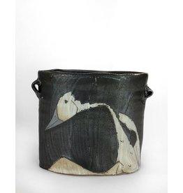 Matthew Krousey Crane Oval Vase