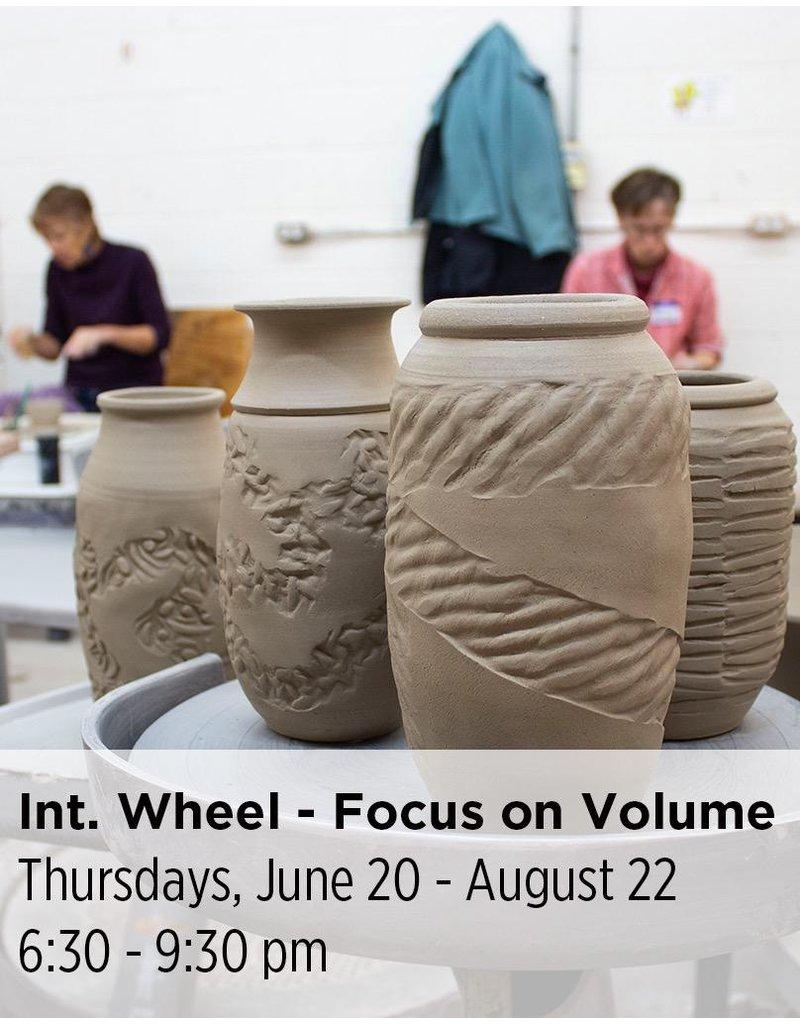 NCC Intermediate Pottery - Focus on Volume