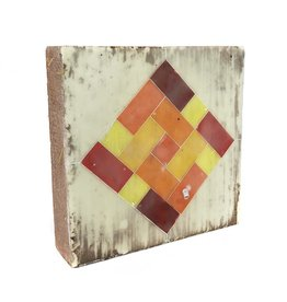 Jamie Lang Warm Colors Rectangles Tile