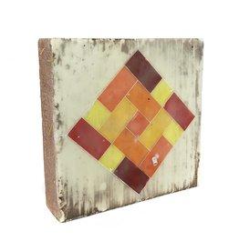 Jamie Lang Warm Colors Rectangles Tile