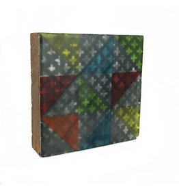 Jamie Lang Multi-color Triangles Tile