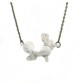 Tricia Schmidt White Puck Necklace