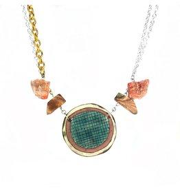 Single Necklace with Semi Precious Stones