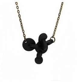 Tricia Schmidt Black Puck Necklace