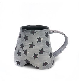 Gray Porcelain Footed Mug