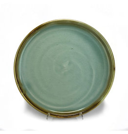 Kevin Caufield Celadon Dinner Plate