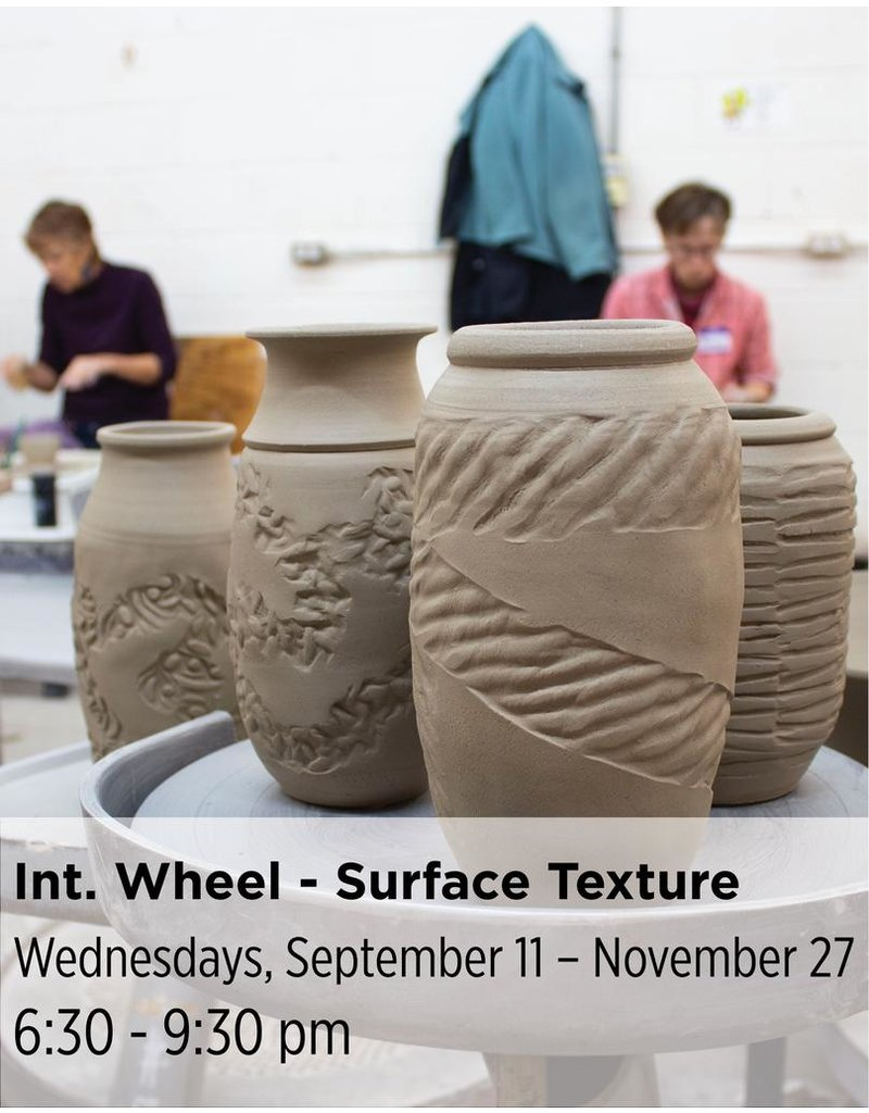 NCC Intermediate Pottery - Focus on Surface Texture