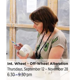 NCC Intermediate Pottery - Focus on Off-Wheel Alteration