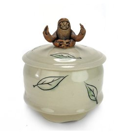 Tricia Schmidt Sloth Lidded Jar