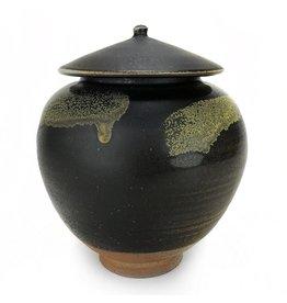 Leila Denecke Black Covered Jar