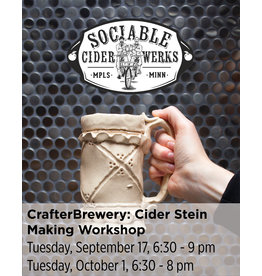 NCC CrafterBrewery: Cider Stein Making Workshop with Sociable Cider Werks