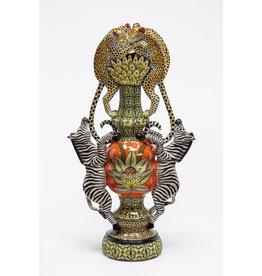 Zebra Leopard Vase