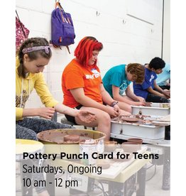 NCC Pottery Punch Card for Teens