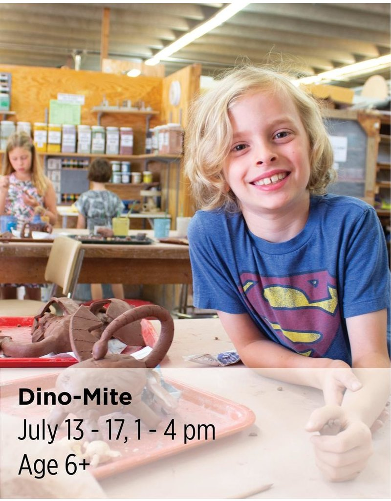NCC Working from pictures or your favorite toy dinosaur, create your own dino and its proper habitat in clay.
