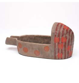 Spouted Shoe Bowl, form by Holly Walker, glaze by Marc Digeros