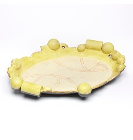 Pete Scherzer Platter, form by Pete Scherzer, glaze by Holly Walker