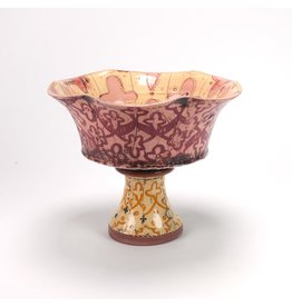 Ursula Hargens Footed Bowl, form by Ursula Hargens, glaze by Jason Bige-Burnett
