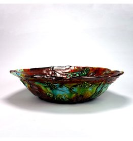 Huge Round Bowl, form by Lisa Orr, glaze by Lisa Orr.