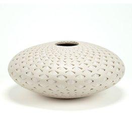 Michael Wisner Off White Oval Vase