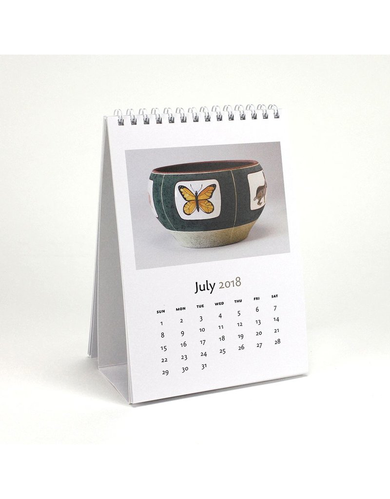 Amy Sabrina Calendar for 2018 featuring the work of Minnesota ceramic artist, Amy Sabrina.