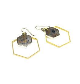 Tricia Schmidt Honeycomb earring