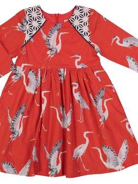 Pink Chicken Aurora Red Herons Songbird Dress