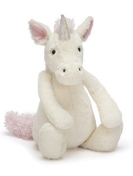 "Jellycat Bashful Unicorn Medium (12"")"