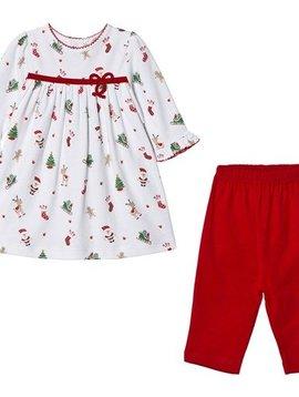 Kissy Kissy Tis the Season Dress Set
