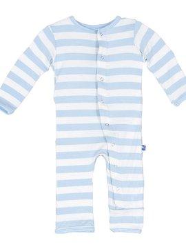 Kickee Pants Blue Stripe Print Coverall