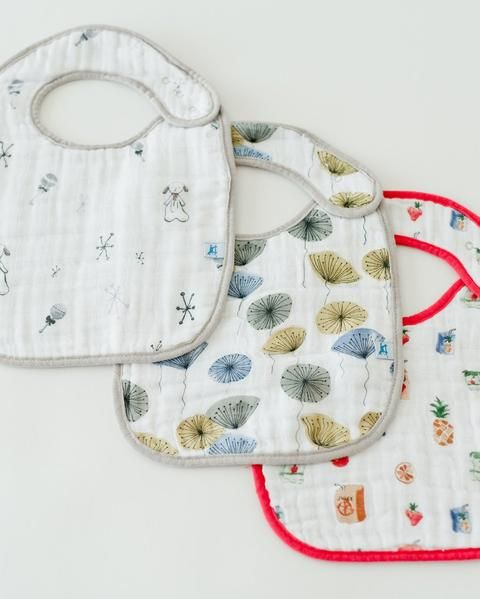 Little Unicorn Muslin Classic Bibs