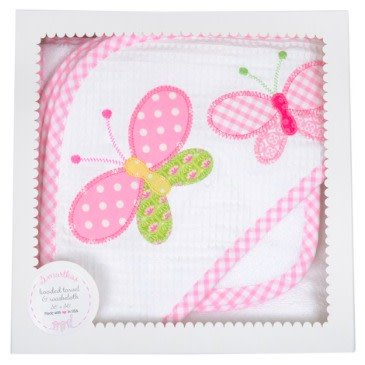 3 Marthas Butterfly Towel and Washcloth Set