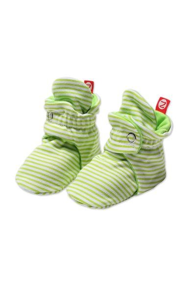Zutano Candy Stripe Snap Booties