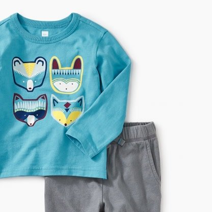 Tea Collection Critters Baby Outfit