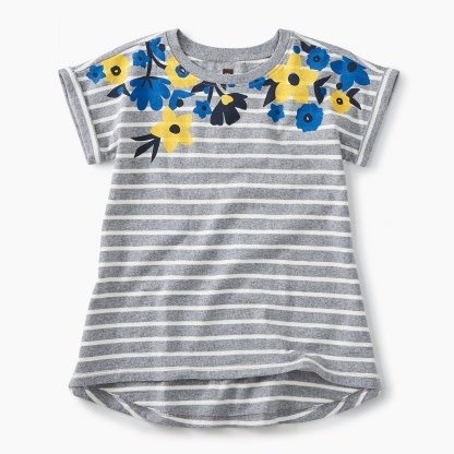 Tea Collection Floral Striped Top