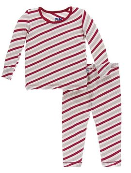 Kickee Pants Candy Cane Stripe Pajamas